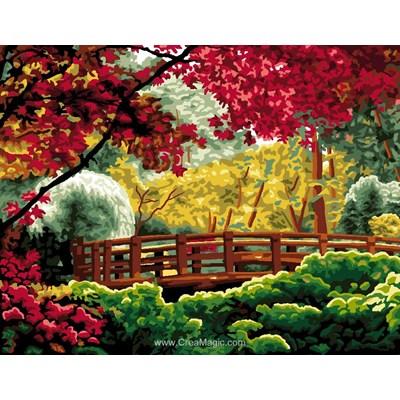 Luc Création canevas le pont du jardin aux plantes