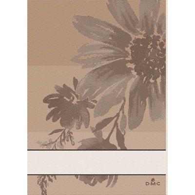 Torchon DMC torchons flowers inspiration - beige 03 - lot de 2 à broder