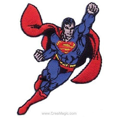 Ecusson brodé superman en vol de MLWD