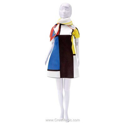 Set couture twiggy mondriaan DRESS YOUR DOLL