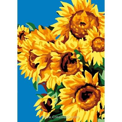 Canevas Luc Création les tournesols fleurs de soleil