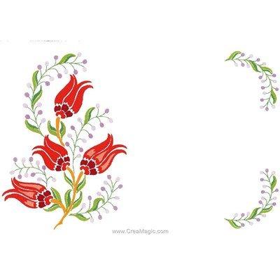 Kit napperon paradise à broder en broderie imprimée de Luc Création