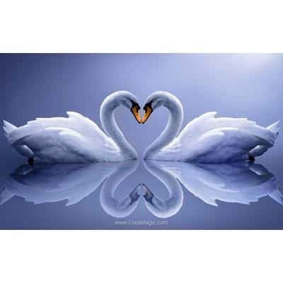 Kit broderie diamant swans - Diamond Painting