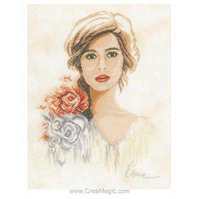 La femme aux fleurs kit à broder - Lanarte