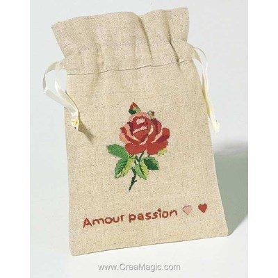 Sachet de senteur bouton de rose à broder - Princesse