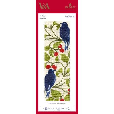 Marque-page birdand berry à broder - DMC