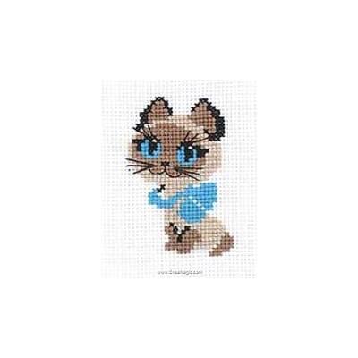 Broderie mini kit RIOLIS chaton aux yeux bleus