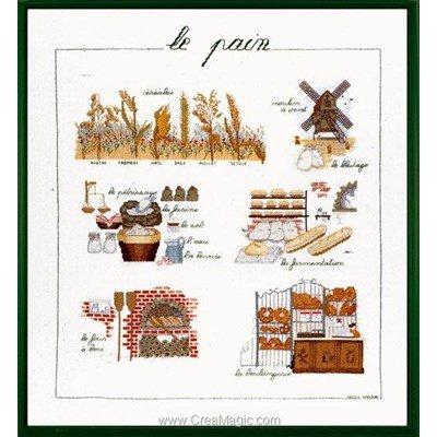 Point de croix à broder le pain à l'ancienne - Le Bonheur Des Dames