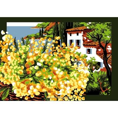 Le mimosa canevas - Luc Création