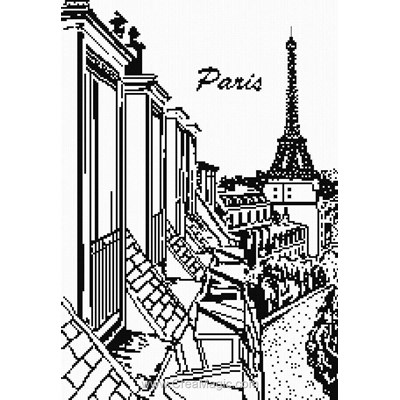 Tableau point de croix toilts de paris - Marie Coeur