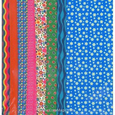 Set de tissu blue daisy - DRESS YOUR DOLL