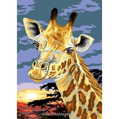 Luc Création canevas la girafe de savane