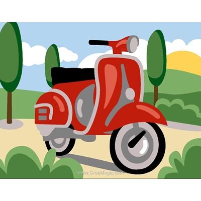 Moto vespa kit canevas a broder pour enfants - Margot