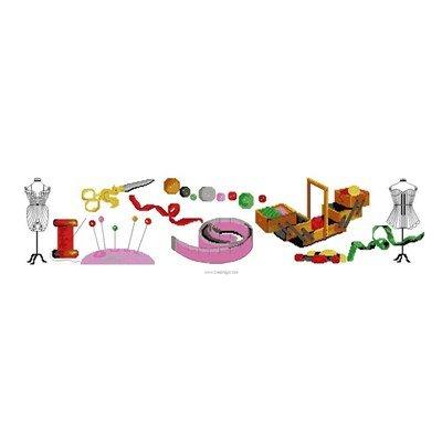 Kit tableau point de croix accesoires de couture - Luc Création