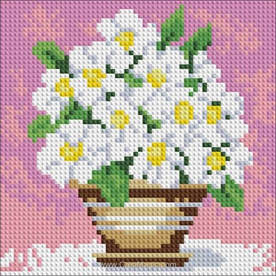 Kit broderie diamant Diamond Painting field flowers