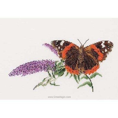 Point de croix compté butterfly-budlea sur aida - Thea Gouverneur