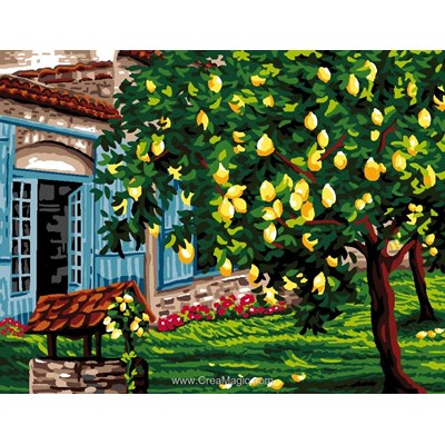 Canevas les citronniers - Luc Création