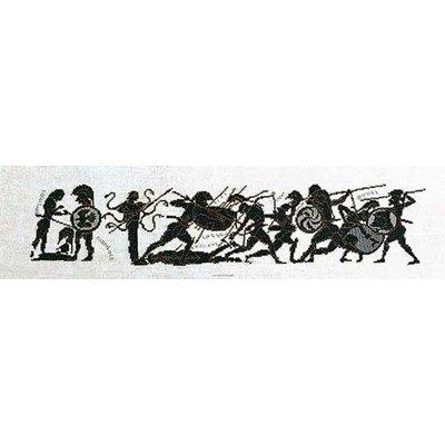 Kit broderie de Thea Gouverneur au point de croix greece achilles sur lin