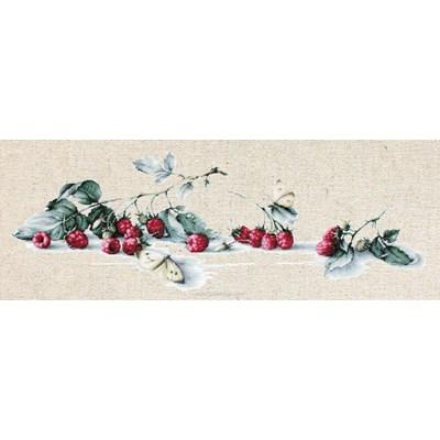 Branche de framboisier lin kit broderie - Luca-S