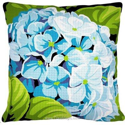 Kit coussin au demi point fleur d'hortensia - SEG