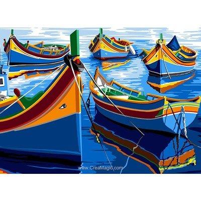 Barques colorées canevas - SEG