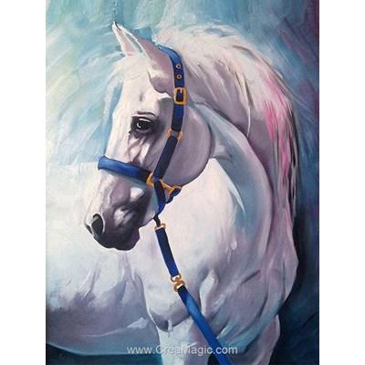 Kit broderie diamant white horse de Diamond Painting