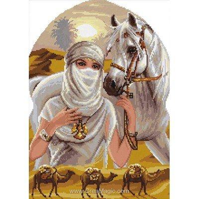 Kit Rafael Angelot à broder au point de croix princesse du désert