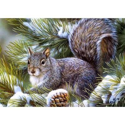 Kit broderie diamant ecureuil d'hiver de Collection d'art