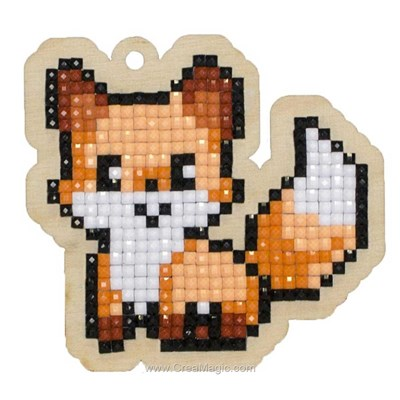 Broderie diamant fox - Wizardi