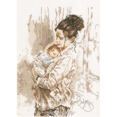 Kit broderie point de croix Lanarte amour maternel