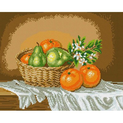 Kit broderie diamant Diamond Painting fruits d'automne