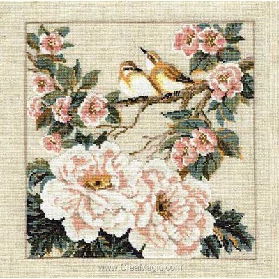 Kit broderie point compté printemps de chine de RIOLIS