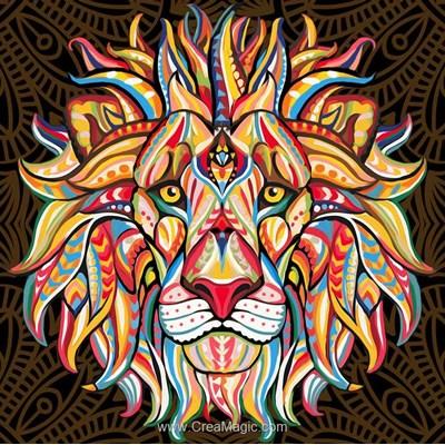 Kit broderie diamant lion soul de Diamond Painting