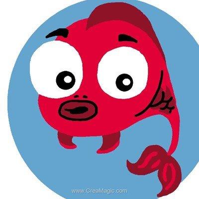 Kit canevas pour débutant Luc Création poisson rouge