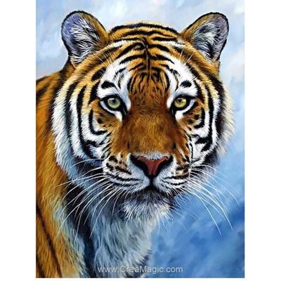 Broderie diamant tigre majestueux de Wizardi