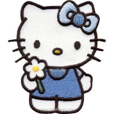 Ecusson motif thermocollant hello kitty ma margueritte de MLWD