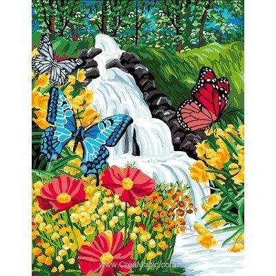 Luc Création canevas cascade aux papillons