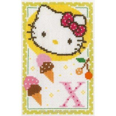 Kit à broder de Vervaco au point de croix hello kitty lettre x