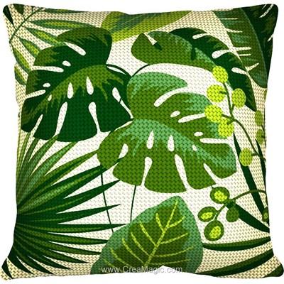 Kit coussin au demi point SEG feuilles tropicales