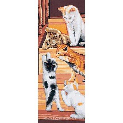 Royal Paris canevas des chats dans l'escalier