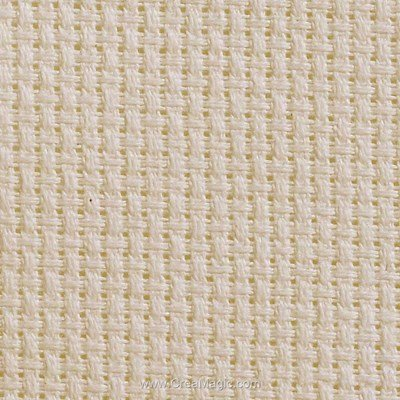 Toile aida 7.1 pts couleur lin natural à broder - Brod'star