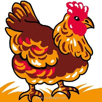 Poulette kit canevas pour enfants - Luc Création