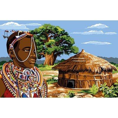 Margot canevas la hutte de l'afrique