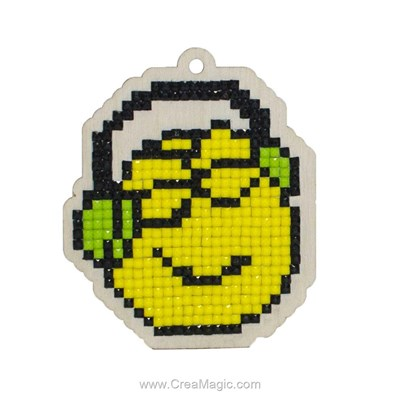 Kit broderie diamant smiley music lover - Wizardi