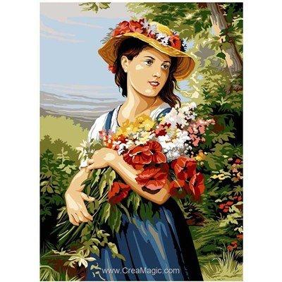 La jeune fille au bouquet canevas - SEG