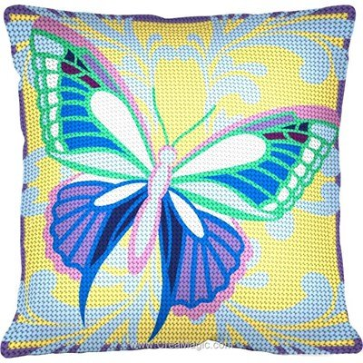 Coussin douceur de papillon au demi point Margot