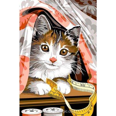 Canevas SEG la couture de chat