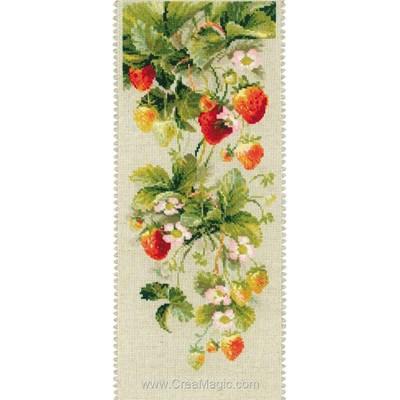 Broderie au point de croix point compté les fraises de RIOLIS