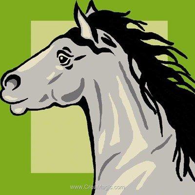 Kit canevas complet le cheval gris de Luc Création
