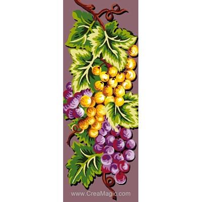 Raisin blanc raisin rouge canevas - Luc Création